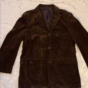 Alfani Brown Suede Positano Sport Coat/Jacket L44